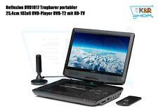 Reflexion DVD1017 Tragbarer portabler25,4cm 10Zoll DVD-PlayerDVB-T2 mit HD-TV