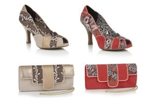 Ruby Shoo Matilda Vintage Style Buckle High Heel Shoe OR Canberra Bag