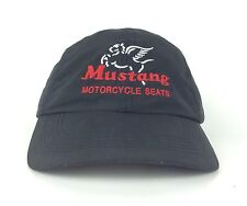 Mustang Motorcycle Seats Black Baseball Cap Hat Adjustable Polyester
