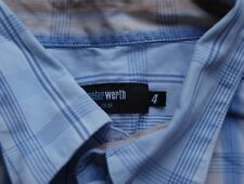 Peter Werth Check Shirt Short Sleeved Shirt- Size 4 - Casual