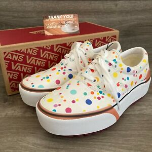 Vans Era Stacked UV Ink Floral True White Size 7 Women's New With Box NWB