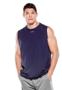 New Oakley Sleeveless Control Tank T-Shirt Moisture Wicking Size Large B108