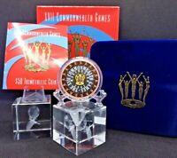 2002 $50 Proof XVII Commonwealth Games Trimetallic Coin Pure Gold Silver Copper