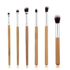 6Pcs Makeup Brushes Set Pro Cosmetic Make Up Brush Set Soft Blending Bamboo Pole