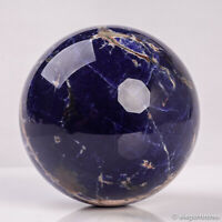 817g 87mm Large Natural Blue Sodalite Quartz Crystal Sphere Healing Ball Chakra