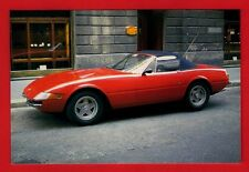 Car Postcard ~ Ferrari 365 GTS/4 Daytona 12 Cylinder 4390cc - Niccolini of Italy