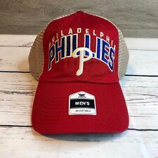MLB Mens One Size Philadelphia Phillies Trucker Snapback Ball Cap Adjustable NEW