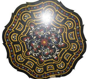 "36"" marble coffee Table Top Pietra Dura inlay Handmade Home & Garden"