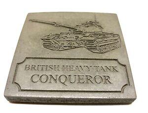 Conqueror Tank Drink Coasters Design Cement Coaster Cup Mat Gift - Medium Grey