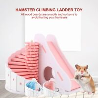 2Color Pet Rat Hamster Mouse Wooden Climbing Ladder House Cage Nest Exercise Toy