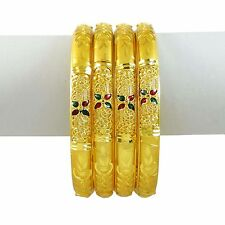 Indisch Traditionel 4Pc Armreif Set Damen Armband Bollywood Schmuck 2 * 10