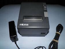 Micros Epson Tm-T88Iv M129H Thermal Pos Receipt Printer Serial w Power Supply