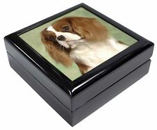 Blenheim King Charles Spaniel Keepsake/Jewellery Box Christmas Gift, AD-SKC7JB