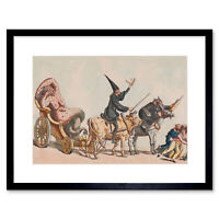 Satire 1800 Anonymous Triumph Of The Small Pox Framed Art Print 12x16 Inch