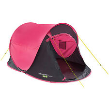 TENT QUICK EASY FAST PITCH 2 PERSON CAMPING HIKING SHELTER MARQUEE CAMP PINK