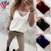 Womens Lady Summer Vest Top Sleeveless Blouse Casual Tank Tops T-Shirt Plus Size