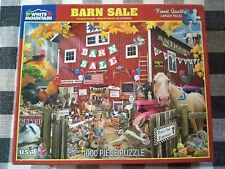 "WHITE MOUNTAIN 1000 PIECE PUZZLE ""BARN SALE"" #1328 Jigsaw Puzzle EUC COMPLETE"