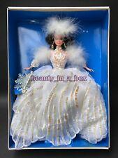 Snow Princess Barbie Doll Rare Brunette Convention Version Enchanted Seasons