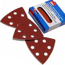 Detail Sanding Pads / 90mm assorted Triangular hook & loop Sanding Pads