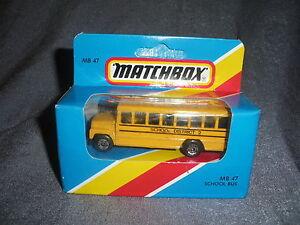 291B Vintage Matchbox 1981 MB 47 Autobus per la Scuola Quartiere 2 USA 1:76