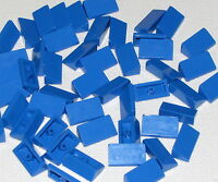 Lego Lot of 50 New Blue Slope 30 1 x 2 x 2/3 Sloped Pieces