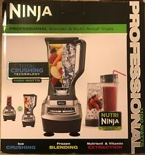 NIB NINJA PRO 72oz BLENDER & 2 ,16oz NUTRI NINJA CUPS 1100W TOTAL CRUSHING TECH