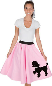 Adult Poodle Skirt Light Pink with Musical note printed Scarf