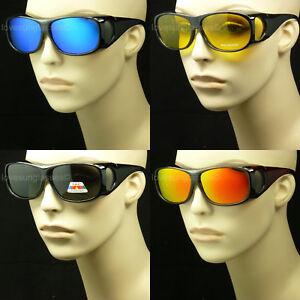 Polarized fit over sunglasses men women cover glasses all drive fish frame new
