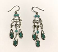 """Chandelier"""" Magnesite Earrings W2838 Silpada Sterling Silver Turquoise """"Chic"""