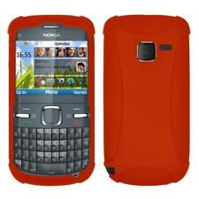 AMZER Silicone Soft Skin Jelly Fit Case Cover for Nokia C3 - Orange