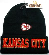 READ LISTING! Kansas City Chiefs Flat Logo on 3D Embroidered Beanie Knit Cap hat