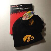 NCAA IOWA HAWKEYES, Toddler Knit beanie & Glove Combo