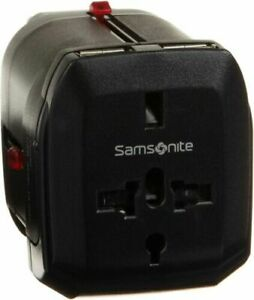 Samsonite Universal Power Adapter 2 USB Ports USA UK Australia