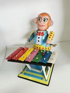 """Winding Monkey Xylophone Metal (9"""") Box 18.5x23x17cm"""