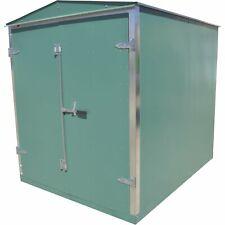 Western Steel Heavy-Duty Secure Storage Shed Green 96 1/2inL x 74 1/2inW