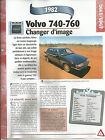 FICHE TECHNIQUE - LA VOLVO 740-760 - 1982