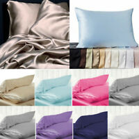 Candy Colors 100% Pure Silk Soft Pillowcase Cushion Cover Pillow Case Home Decor