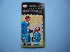 1964/65 IMPERIAL OIL ESSO NHL HOCKEY BROADCASTS SCHEDULE