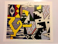 ROY LICHTENSTEIN HAND SIGNED SIGNATURE * POW WOW * PRINT  W/ C.O.A.