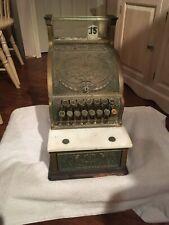 Antique 1900 Candy Store Brass National Cash Register Model 313 Ncr Barber Shop