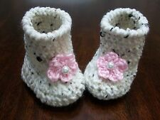 Baby Girl Shoes/Booties/Boots Pink Crochet 0-6 months