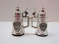 Arizona Souviner Silver Painted Stein Salt & Pepper Shaker Set