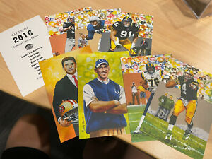 Class Of 2016 Goal Line Art Cards Pro Football Hall Of Fame Unsigned 7 Cards