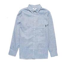 Fourstar Skateboard Clothing Boys Long Sleeve Stripe Shirt Blue 8-9yrs Clearance