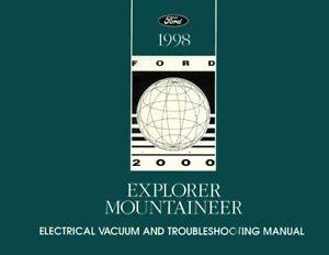 OEM Maintenance Shop Manual Bound for Mercury Explorer, Mountaineer - Evtm 1998
