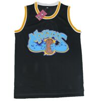 Alien 0 Space Jam Movie Basketball Jersey Monstars Tune Squad Black Stitched