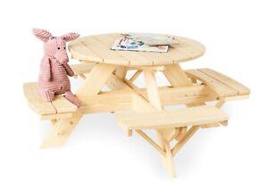 Pinolino Kids Table and Chairs Nicki For 4 Round Nature New