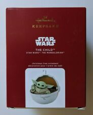 Hallmark 2020 Baby Yoda Star Wars The Child Mandalorian Keepsake Ornament New