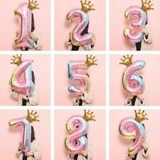 40 inch Crown Number Foil Balloon Digit Ballon Birthday Anniversary Party Large