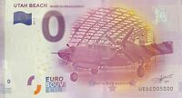 BILLET 0  EURO UTAH BEACH FRANCE  2017  NUMERO 5000 DERNIER BILLET